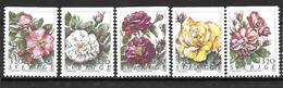 Suède 1994 N°1807/1811 Neufs Fleurs Roses - Sweden