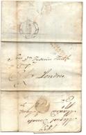 Marque Espagne Par Oleron De 1837 Sur Pli Pour Londres - Marcofilia (sobres)
