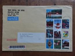 GIAPPONE - Raccomandata Con Serie Completa Annullo Arrivo + Spese Postali - Luftpost