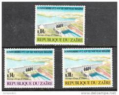 A1114 ZAIRE 1973, SG811-3, Inga Dam MNH - Zaire