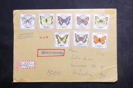 ALLEMAGNE - Enveloppe En Recommandé De Bad Kissingen Pour Münich En 1992, Affranchissement Papillons - L 38561 - [7] República Federal