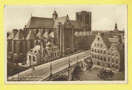 * Gent - Gand (Oost Vlaanderen) * (Nels, Série 3, Nr 56) église Saint Michel, Sint Michiels Kerk, Panorama, Rare - Gent