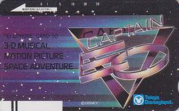 Télécarte Ancienne Japon / 110-20856 - DISNEY DISNEYLAND - CAPTAIN EO  SPACE ADVENTURE - Japan Front Bar Phonecard / A - Disney