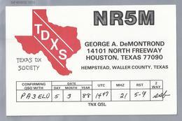 US.- QSL KAART. CARD. NR5M. GEORGE A. DeMONTROND, HOUSTON, TEXAS, HEMPSTEAD, WALLER COUNTY. TDXS. U.S.A. - Radio-amateur