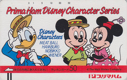 Télécarte Ancienne Japon / 110-22709 - DISNEYDONALD MICKEY MINNIE - Japan Front Bar Phonecard / A - Disney