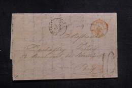 """FRANCE - Cachet D'entrée """" E.PONT / CULOZ """" Sur Lettre Pour Paris En 1866 - L 38586 - Marcofilia (sobres)"""
