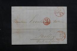 """FRANCE - Cachet D'entrée """" SUISSE / FERNEX """" Sur Lettre De Genève Pour Belley En 1850 - L 38588 - Marcophilie (Lettres)"""