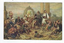 CPA Tableau - Serbe - Bocaric - Guslar Na Zboru - Musei