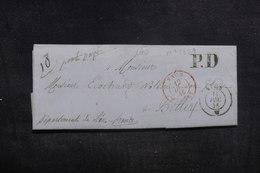 """FRANCE - Cachet D'entrée """" VAUD / FERNEY """" Sur Lettre De Nyon  Pour Belley En 1846 - L 38591 - Poststempel (Briefe)"""