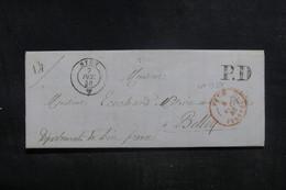 """FRANCE - Cachet D'entrée """" VAUD / FERNEY """" Sur Lettre De Nyon  Pour Belley En 1846 - L 38592 - Marques D'entrées"""