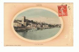 CAHORS - 46 - VUE DE L`EST - CARTE GAUFREE COLORISEE - Cahors