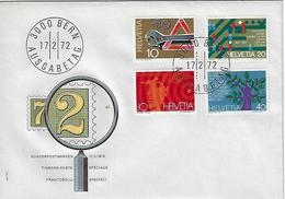 "Switzerland 1972  ""Events""  17.2.72  FDC  Mi.964-967 - FDC"