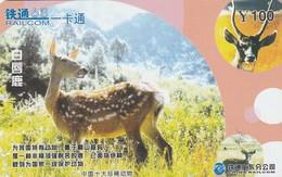 CHINA. FAUNA. Gervus Albirostris. CRCYB2003(10-9). (0764). - Tarjetas Telefónicas