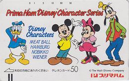 Télécarte Ancienne Japon / 110-16380 - DISNEY - MICKEY MINNIE DONALD - Japan Front Bar Phonecard / A - Balken TK - Disney
