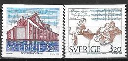 Suède 1994 N°1825/1826 Neufs Musique Et Opéra - Suecia