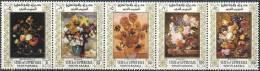 1967 ADEN UPPER YAFA Michel 89-93** Tableaux De Fleurs, Van Gogh - Ver. Arab. Emirate