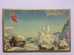 NORWAY - Christmas Postcard - God Jul! - 1950 - Christmas