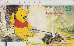 Télécarte Ancienne Japon / 110-20911 - DISNEY - Ours WINNIE POOH  - TEDDY BEAR Japan Front Bar Phonecard / A - Balken TK - Disney