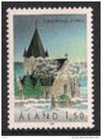 Aland Åland 1989 Church Of Finström (12. Jh.), Mi 37, MNH(**) - Aland