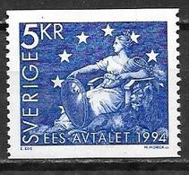 Suède 1994 N°1793 Neuf Adhésion à La CEE - Suecia