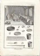 METIER XVIIIe: Vermicelier ( Pates Alimentaires ) 2 Gravures Sur Cuivre De BENARD 1784    23 X 32 Cm - Estampes & Gravures