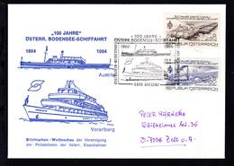 1984 100 Jahre Österr. Bodensee-Schiffahrt Sonderstempel Auf Sonderumschlag - Unclassified