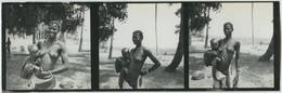 Tirage Contact. 3 Photos. Afrique. Femme Aux Seins Nus Avec Son Enfant. Sénégal Ou Bénin. - Afrique