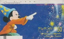 Télécarte Ancienne Japon / 110-20910 - DISNEY - MICKEY FANTASIA / APPRENTI SORCIER - Japan Front Bar Phonecard  / A - Disney