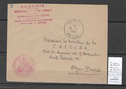 Algerie - Lettre - Cachet FM CHELLALA ET REIBELL SAS  + Cad Reibell -  Marcophilie - Argelia (1924-1962)