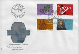 "Switzerland 1975  ""Events"" BERN  11.9.75  Mi.1058-1061 - FDC"