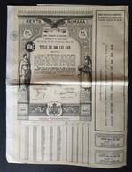 RENTA ROMANA * 1929 * DATORIA PUBLICA ROMANIE * SCANS - Otros