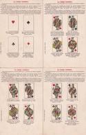 Cartomancie -.La Bonne Aventure- 8 CPA - Jeu Complet De Cartes Représentant Les 32 Cartes à Jouer Avec Légendres. - Astrologie