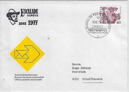 Switzerland 1977  Bureau De Poste Automobile  10.12.77  Mi.1105 - Covers & Documents