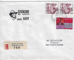 Switzerland 1977  Bureau De Poste Automobile  10.12.77  Mi.1105+1027 - Covers & Documents