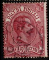Italy, 1884 50 C Parcel Stamp Cancelled - 1878-00 Humbert I.