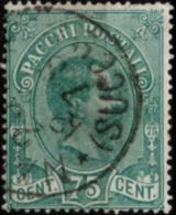 Italy, 1884 75 C Parcel Stamp Cancelled - 1878-00 Humbert I.