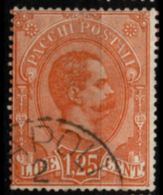 Italy, 1884 1 L 25 C Parcel Stamp Cancelled - 1878-00 Humbert I.