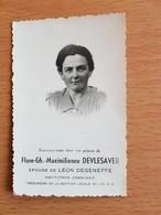 Né A HEZE Sous Grez- Doiceau Le 20/05/1904 FLORE GH. MAXIMILIENNE DEVLESAVER Institutrice Communale. - Images Religieuses