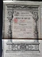 DATORIA PUBLICA A ROMANIE * ROMANIA * 1908 * TITLU DE 500 LEI * SCANS - Otros