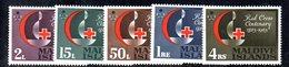 APR1385 - MALDIVE 1963 , Serie  Yvert N. 124/128  ***  MNH  (2380A) . Croce Rossa - Maldive (...-1965)