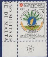 PIA - SMOM - 1994 : Convenzione Postale Con La Repubblica Del  Madagascar - (SAS  P.A.  48) - Malte (Ordre De)