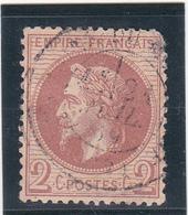 N°26, 2c Rouge-brun - Second Empire Napoléon III Lauré Oblitéré Ronde - 1863-1870 Napoleone III Con Gli Allori