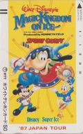 Télécarte Ancienne NEUVE Japon / 110-011- DISNEY ON ICE - Sport GOOFY Baseball - Japan MINT Front Bar Phonecard - Disney