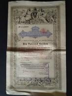 STAATSSCHULDVERSCHREIBUNG ÖSTERREICHISCHER WÄHRUNG * 1000 GULDEN * 1868 * SCANS - Actions & Titres