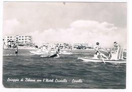 IT-3157   BIBIONE : Spiaggia Con L'Hotel Cristallo - Corallo - Venezia (Venice)