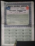 BRAZIL RAILWAY COMPANY * 1919 * SCANS * BRAZILIË - Chemin De Fer & Tramway