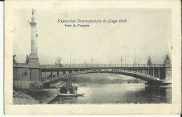 Exposition  Internationale  De  Liége  1905 -- Pont  De  Fragnée.    ( 2 Scans ) - Liege