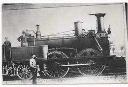 Carte Photo Locomotive N° 104 Est Cliché Pol Gillet - Trains