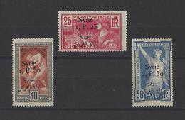 SYRIE.  YT  N° 150-151-152  Neuf *  1924 - Syria (1919-1945)