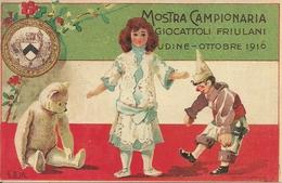Mostra Campionaria Giocattoli Friulani Udine 1916, Riproduzione C10, Reproduction, Illustrazione, G.B.M. Illustratore - Esposizioni